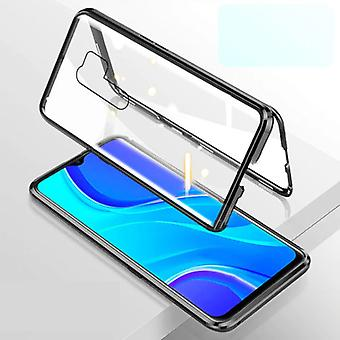 Stuff Certified® Xiaomi Poco X3 Pro Magnetic 360 ° Case with Tempered Glass - Full Body Cover Case + Screen Protector Black