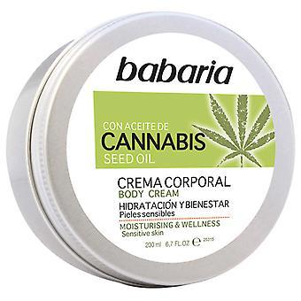 Babaria Cannabis Crème hydratante et bien-être pour le corps 200 ml