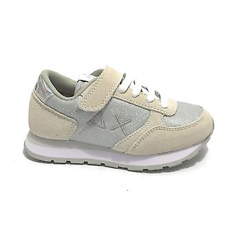 Shoes Baby Sun68 Sneaker Girl's Ally Solid White/ Glitter Zs21su07 Z31404