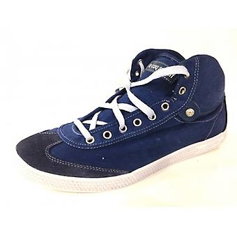 Men's Shoes Sneaker Alto Le Coq Sportif Blue Fabric Bottom Xlight Series 3
