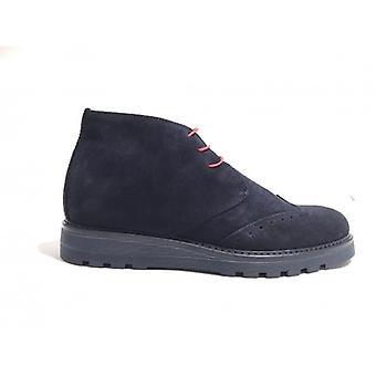 Shoes Man Tony Wild Polish Brogue Suede Color Blue U18tw15