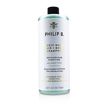 Nordic wood hair + body shampoo (invigorating purifying all hair types) 226071 947ml/32oz