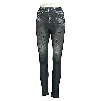 Slim 'N Lift Caresse Jean-Printed Knit Studded Leggings S420429