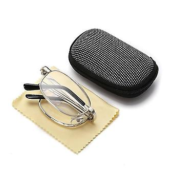 Design Reading Glasses Folding Spectacles Frame Silver
