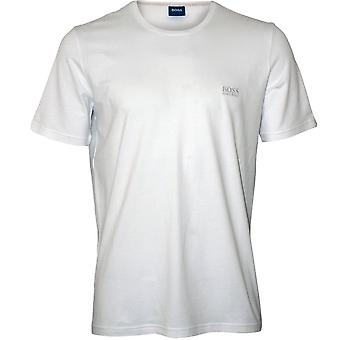 BOSS Luxe Jersey Crew-Neck T-Shirt, White/silver