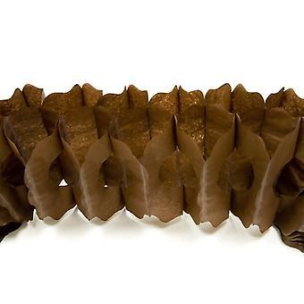 Guirlande papier marron 15cm x 4m