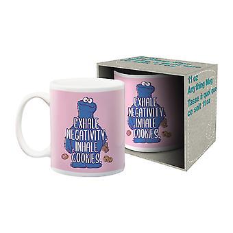 Sesame street - inhale cookies ceramic mug