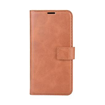 Magnetic Elegant Leather Case for Nokia 8.3 - Brown
