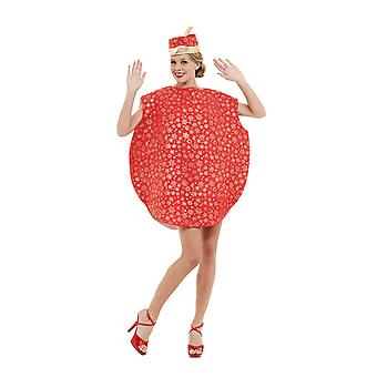 Orion kostuums Unisex Giant Red Christmas Tree Kerstbal fancy dress kostuum