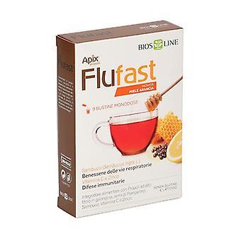 Apix Propoli FluFast orange honey 9 packets (Orange - Honey)