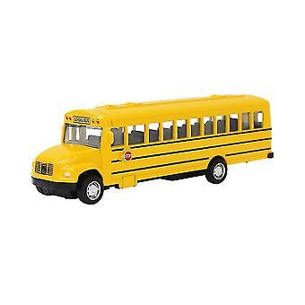 مصغرة سحب حافلة مدرسية سبيكة انزلاق، نموذج سيارة محاكاة