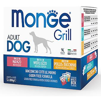 Monge Multi Pouches for Dogs Beef/Fish/Chicken and Turkey (Dogs , Dog Food , Wet Food)