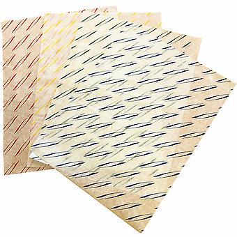 Yellow Burger Wrapping Sheets