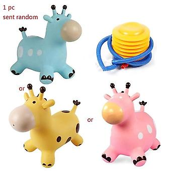 Inflatable Jumping Giraffe, Bouncy Hopper Bouncing Animal, Ride With Pump,