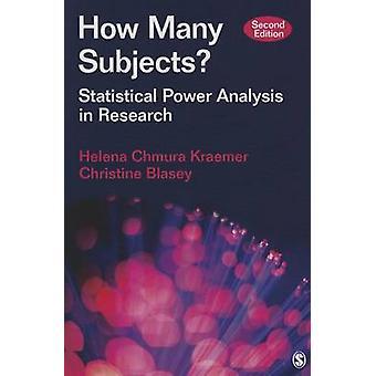 Combien de sujets par Helena Chmura KraemerChristine M. Blasey