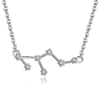 Gemshadow Zodiac sterling 925 silver necklace with star-shaped cubic zirconia sign jewelry birthday gifts for Ref. 0645249404532