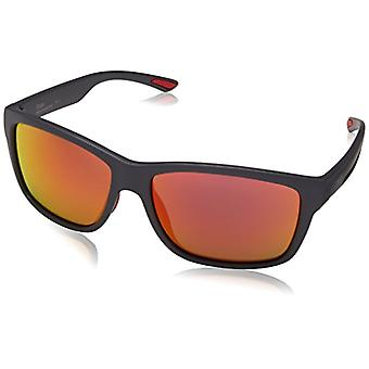 SMITH Sage Uz Fre 61 Sunglasses, Grey (Matt Grey/Red Fl), Man