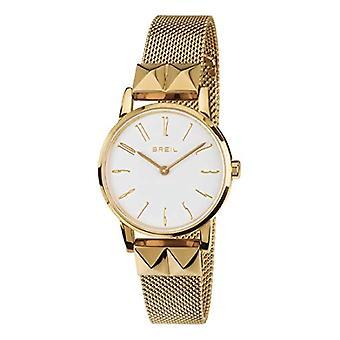 BREIL kvinners klokke ROCKERS hvit urskive og gull stål armbånd, BEVEGELSE BARE TID - 2H KVARTS