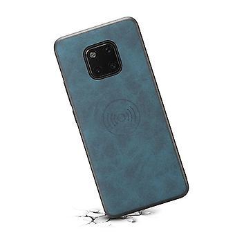 حقيبة جلدية مع فتحة بطاقة المحفظة لسامسونج S10E الأزرق الرجعية