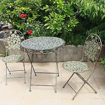 Garden Furniture Sets  Metal 2 Chairs & 1 Table Sets