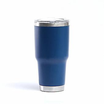 الأزرق القهوة الحرارية القدح السفر سيارة بهلوان حامل كأس فراغ drinkware مع غطاء والتعامل مع cai373