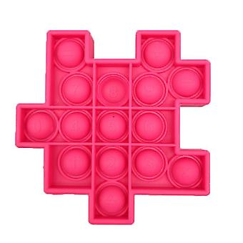 Rose red 6 pcs silicon ball for kids play a rubik's cube style toy bundle stress relief with fidget hand toys az21908