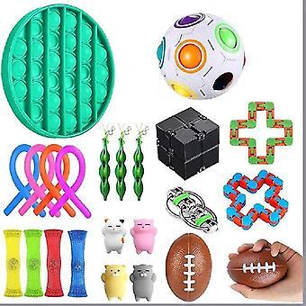 For 23pcs Pack Sensory Toy Set Antistress Relief Fidget Toys WS43931