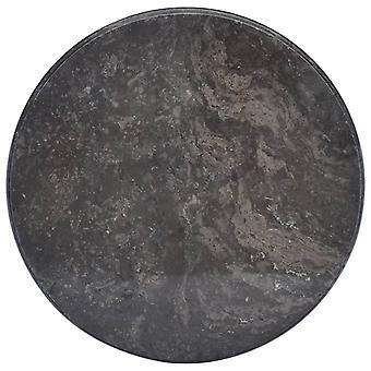 vidaXL Tischplatte Schwarz Ø50x2,5 cm Marmor