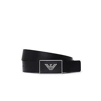 Emporio Armani Eagle Buckle Belt - Black