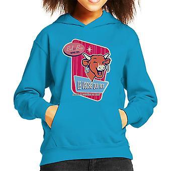 Den grinende ko blinkende Bel og Bon Kid's hætteklædte sweatshirt