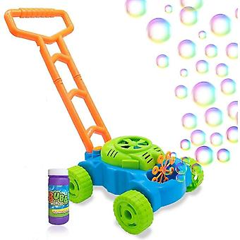Bubble Mower For Toddlers, Kids Bubble Blower Machine Lawn Games, Summer Outdoor Push Toys