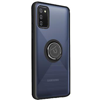 Cover Samsung Galaxy A02s Bi-material Metal Ring Function Stand Black