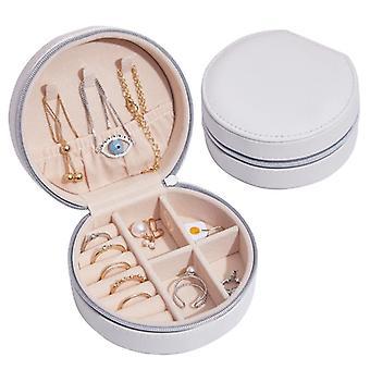 مجوهرات تخزين مربع بو الأقراط الجلدية الإبداعية المحمولة أصحاب القضية