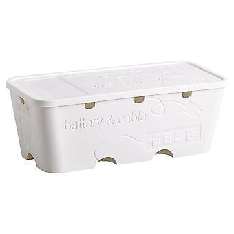 Power Cord Socket Storage Box Bin Cable Manager Organizer Dustproof Safety Plug Board Socket