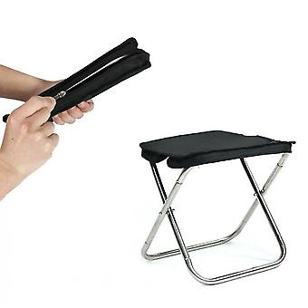 Outdoor Folding Chair For Camping,oxford Cloth With Carry Bag(Black)