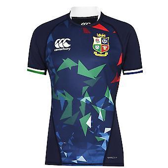 Canterbury Mens British and Irish Lions Training Shirt Short Sleeve Top