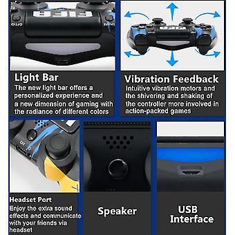 2pc set Bluetooth Gamepad Wireless PS4 Controller For PlayStation 4 Pro/Slim/DualShock 4 Game Joystick Graffiti 7