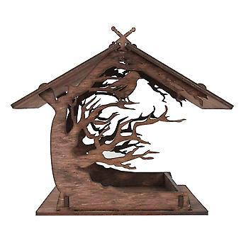 Bird toys vintage wood attractive wooden birdhouse bird feeder outdoor garden decoration|bird cages nests