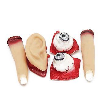 Halloween Realistische abgetrennte Augen, Finger und Ohren Horror Scary Streich Spielzeug