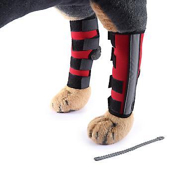 Mimigo Stützstange Verstärkung mit reflektierender und Metallunterstützung -extra unterstützend Hund Hund Hinterbein Hock Gelenkwickel schützt Wunden verhindert Verletzungen