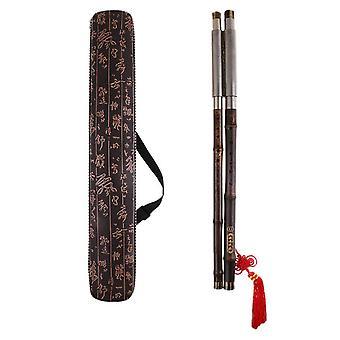 Kinesisk flöjt Bau Kinesisk Bau Bambu Flöjt G-key Double Pipe Professionellt Hantverk Musikinstrument