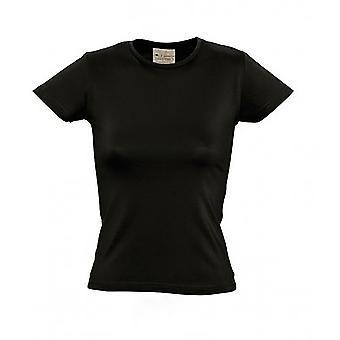 SOLS kvinners/damer organisk kort erme t-skjorte