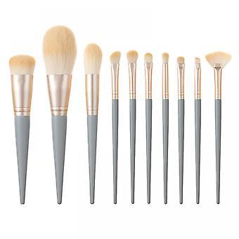 10 Blue Makeup Brush Set Super Soft Eye Shadow Brush Loose Powder Foundation Set Beauty Tool