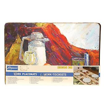 Keuken elegantie 4 delige Cork Placemat tabel Protector