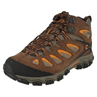 Mens Merrell impermeabile Walking Boots Pulsano metà impermeabile