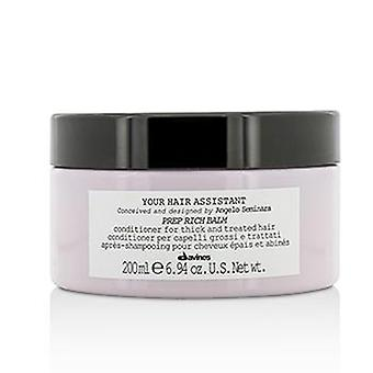 Davines Your Hair Assistant Prep Rich Balm Conditioner (for Thick And Treated Hair) - 200ml/6.94oz