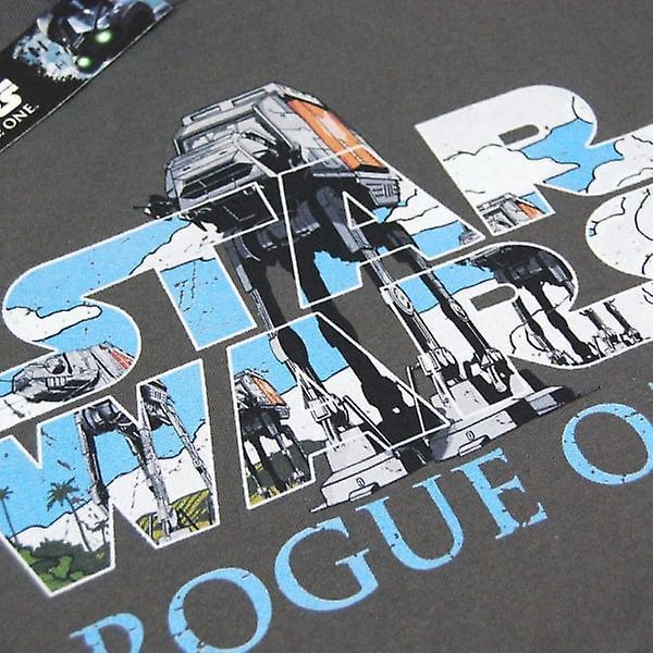 Star Wars Mens Star Wars Rogue One AT-AT Logo T Shirt Grey
