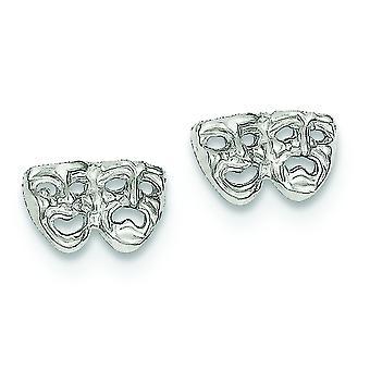 925 sterling ezüst polírozott post fülbevaló vígjáték tragédiája mini a fiúk vagy lányok fülbevaló