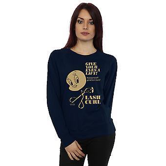 Looney Tunes Women's Tweety Pie Lash Curl Sweatshirt