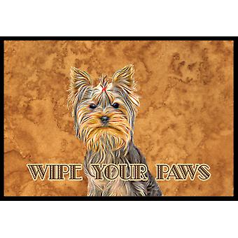 Yorkie / Yorkshire Terrier Wipe your Paws Indoor or Outdoor Mat 18x27